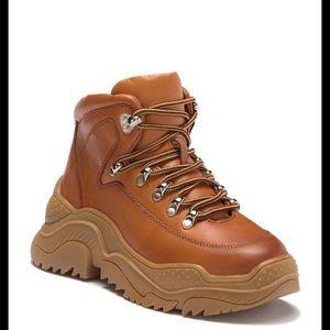 Jeffery Campbell Debris Sneaker Honey Tan Size 7.5